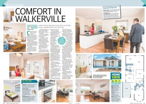 JANUARY 10, 2016: ADELAIDE, SA. Page 4 of Sunday Mail Home, dated 10/01/2016, with the headline 'Comfort in Walkerville' relating to Oakford Homes 'Walkerville Ensuite'. (Photo by News Ltd / Newspix) Contact Email: newspix@newsltd.com.au Contact Web URL: www.newspix.com.au Contact Email: newspix@newsltd.com.au