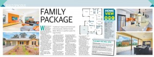 MAY 15, 2016: ADELAIDE, SA. Page 11 of Sunday Mail Home, dated 15/05/2016, with the headline 'Family Package' relating to Oakford Homes 'Belair Alfresco'. (Photo by News Ltd / Newspix) Contact Email: newspix@newsltd.com.au Contact Web URL: www.newspix.com.au Contact Email: newspix@newsltd.com.au