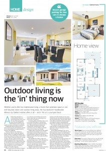 JULY 24, 2016: ADELAIDE, SA. Page 6 of Sunday Mail Home, dated 24/07/2016, with the headline 'Outdoor Living is the 'in' thing now' relating to Oakford Homes 'Hazelbrooke Alfresco'. (Photo by News Ltd / Newspix) Contact Email: newspix@newsltd.com.au Contact Web URL: www.newspix.com.au Contact Email: newspix@newsltd.com.au
