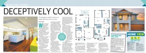 MARCH 27, 2016: ADELAIDE, SA. Page 11 of Sunday Mail Home, dated 27/03/2016, with the headline 'Deceptively Cool' relating to Oakford Homes 'Mirage'. (Photo by News Ltd / Newspix) Contact Email: newspix@newsltd.com.au Contact Web URL: www.newspix.com.au Contact Email: newspix@newsltd.com.au