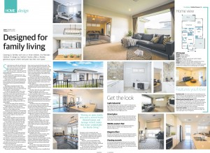 JANUARY 29, 2017: ADELAIDE, SA. Page 14 of Sunday Mail Home, dated 29/01/2017, with the headline 'Designed for family living' relating to Oakford Homes 'Meridian Oakford'. (Photo by News Ltd / Newspix) Contact Email: newspix@newsltd.com.au Contact Web URL: www.newspix.com.au Contact Email: newspix@newsltd.com.au