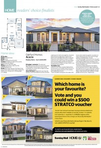 SEPTEMBER 3, 2017: ADELAIDE, SA. Page 6 from the Home Magazine section of The Advertiser newspaper, dated 03/09/2017, featuring the Acacia design home by Oakford Homes. (Photo by News Ltd / Newspix) Contact Email: newspix@newsltd.com.au Contact Web URL: www.newspix.com.au Contact Email: newspix@newsltd.com.au